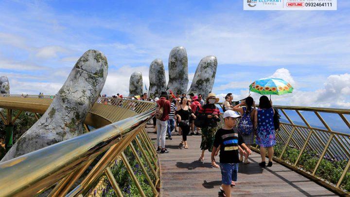 Vẻ đẹp cầu Vàng Đà Nẵng đang gây sốt cộng đồng mạng
