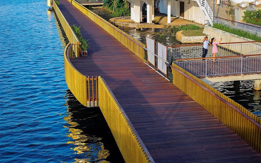 cầu gỗ lim ở Huế