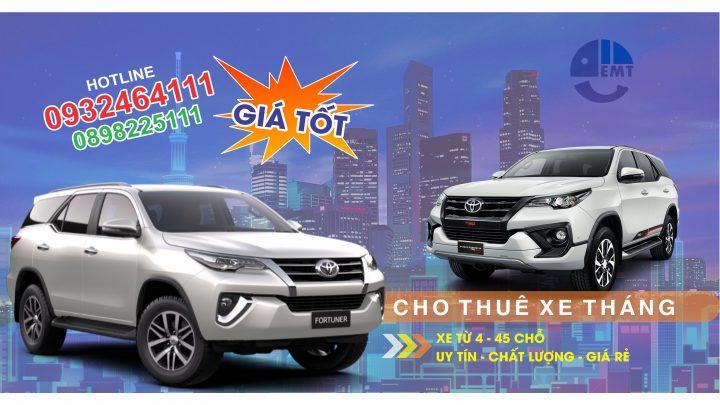 Dịch vụ cho thuê xe tháng tại Huế